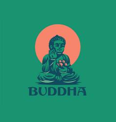 buddha emblem vector image
