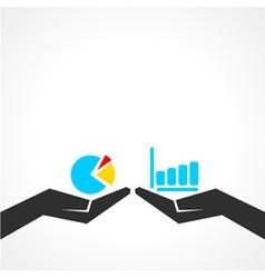 Business graph concept vector