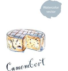 Camembert vector image