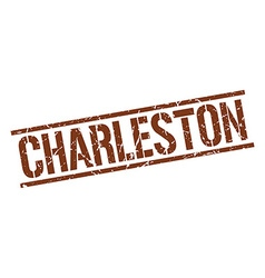 Charleston brown square stamp vector image