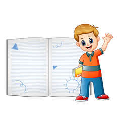 children are learn something on book vector image