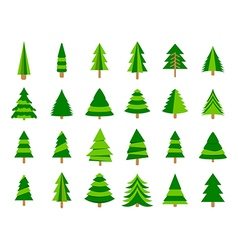 Christmas trees in a flat style Firs isolation vector image