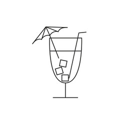 cocktail online icon vector image