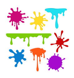 collection bright colorful vector image
