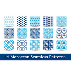 Collection of moroccan patterns vector