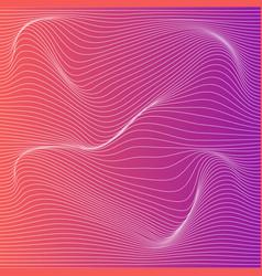 color stripe deformation background vector image