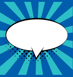 comic speech bubbles on colorful background and vector image