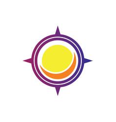 compass sun logo vector image