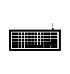 Computer keyboard icon image vector