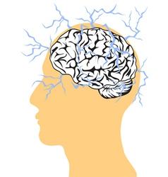 Concept of brain power vector