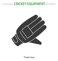 Cricket game equipment vector