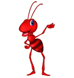 cute red ant cartoon vector image