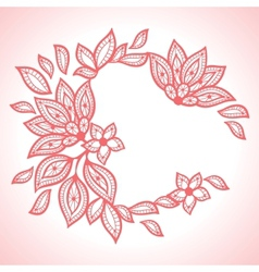 Delicate lace background abstract ornament vector