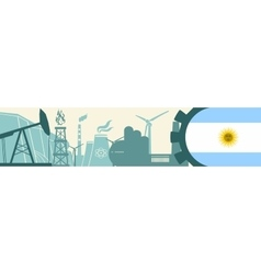 Energy and Power icons set Argentina flag vector