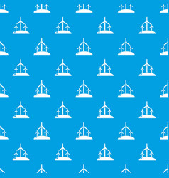 energy windmill pattern seamless blue vector image
