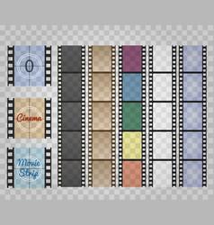 Filmstrip on transparent vector