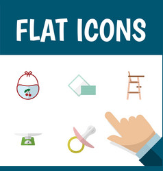 flat icon child set of children scales child vector image