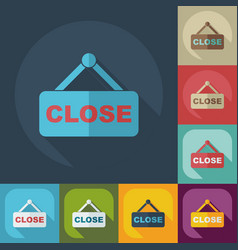 Flat modern design with shadow closed sign vector