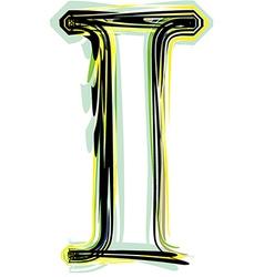 font letter I vector image