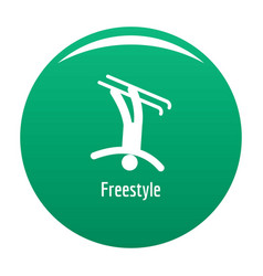 Freestyle icon green vector