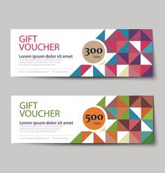 Gift voucher discount template design vector
