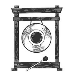 Gong sketch vector