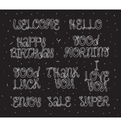 Good luck enjoy happy birthday Set of modern vector