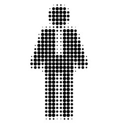 groom halftone dotted icon vector image