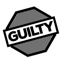 Guilty black stamp vector