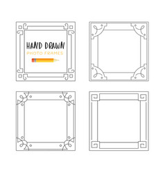 hand-drawn frames vector image