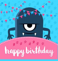 happy birthday with cute vector image