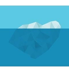 Iceberg in the water vector