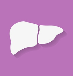 Icon of human liver Flat style vector