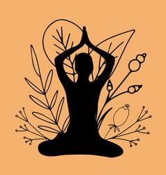 International yoga day june 21 lotus pose vector