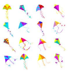 Kite icons set vector
