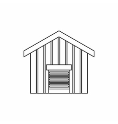 Large barn icon outline style vector image