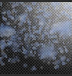 light blue flower petals falling down memorable r vector image