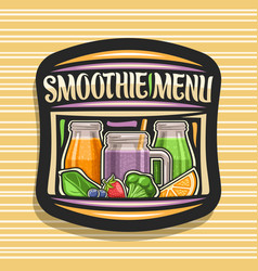 Logo for smoothie menu vector