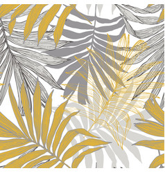 lush tropics foliage background tropical seamless vector image