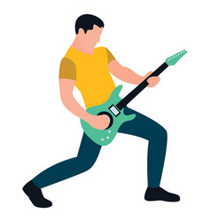 Male guitar player vector