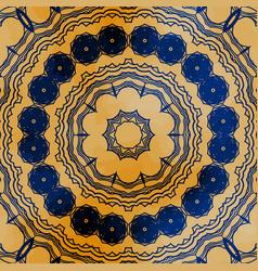 Mandala seamless design square motif vector