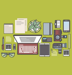 mass media and press icon set vector image