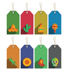 Mexican gift tags vector