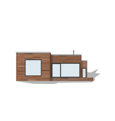 modern private house vector image