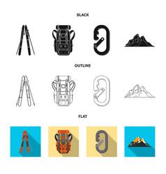mountaineering and peak vector image