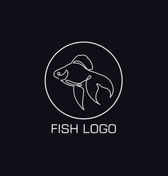 one line crab logo vector image