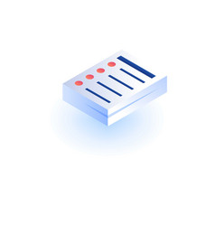 paper stack icon isometric style vector image