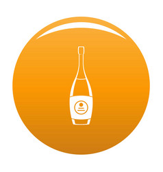 Party champagne icon orange vector