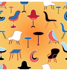 pattern of different seating Furniture vector image