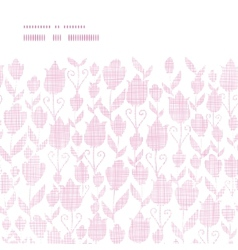 Pink textile tulips texture horizontal frame vector